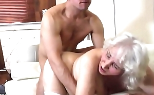 Granny with hairy love tunnel having sex with boy