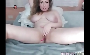 a super hot wife touches and fucks her smooth pussy on hidden camera