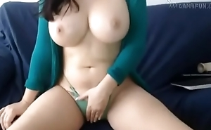 Natural Big tits girl giggling tits for You