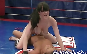 Bigtits wrestling euro satisfied with toys