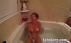 Underwater masturbating in rub-down the shower then vibrator and fingering to finish up..