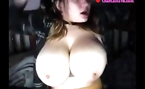 girl caught on webcam part 54 big tits