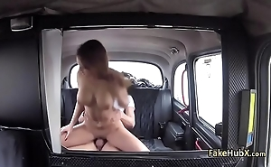 Crazy gal fucks tricky taxi driver