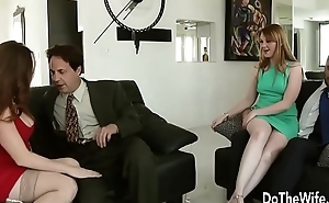 Down in the mouth Swinger Allision Moore Is Fucked by a Long Dicked Guy While Another Couple