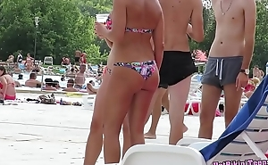 Hot Sexy big Ass Thong Milfs Beach Voyeur Spycam
