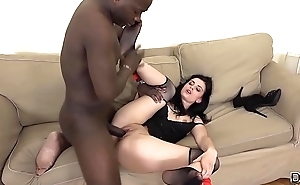 Interracial Anal Teen Gets Ass fucked Black Big Cock She Likes it Hardcore