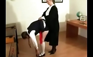 Caned by headmistress