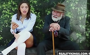 RealityKings - Teens Reverence Huge Cocks - (Abella Danger) - Bus Bench Creepin