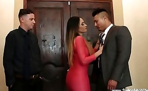 Husband Watches Latina Wife Swing