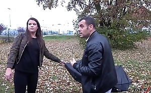 Big girl with broken umbrella cheated &_ fucked in driving van