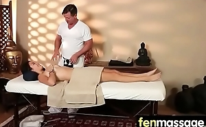 Gorgeous masseuse explores the body of a sexy lesbian beauty 19